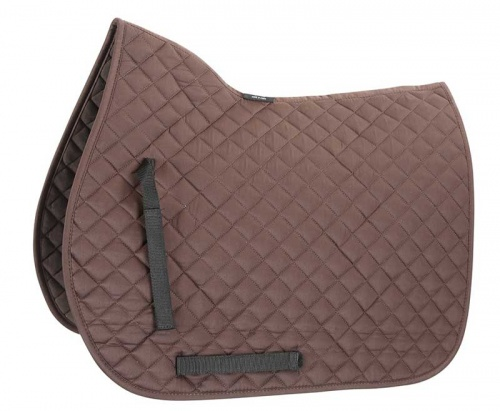 Shires Quilted Saddlecloth Brown