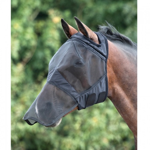Fine Mesh Fly Mask Full Face with Ear Holes from Shires Equestrian