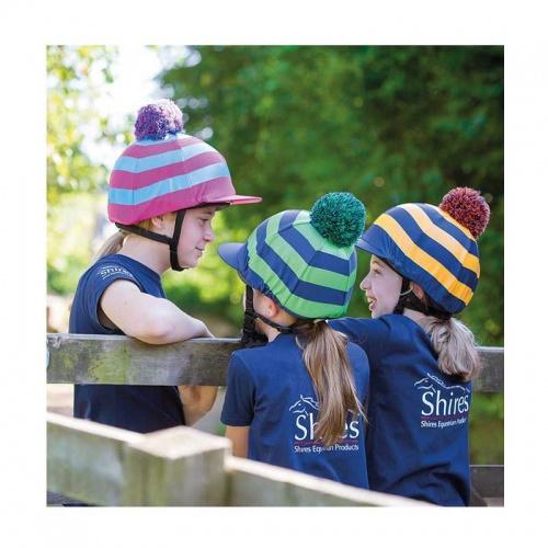Hat Cover Striped with Pom Pom from Shires