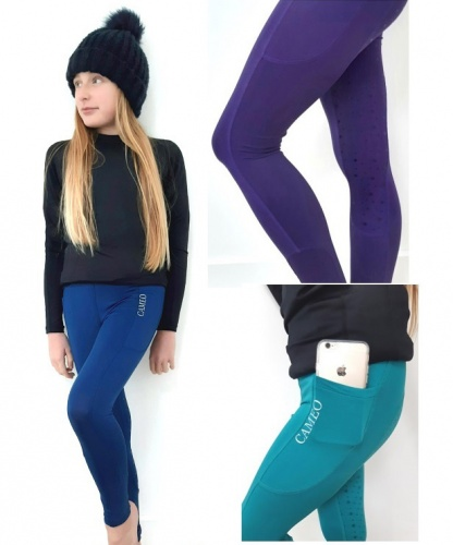 Childrens Navy Horse Riding Tights