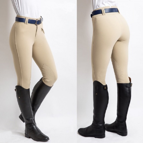 Foxhunter Ladies Hybrid Beige Breeches from Equetech