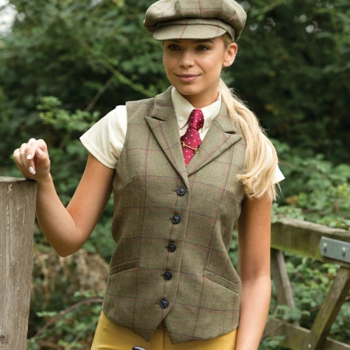 Launton Deluxe Tweed Lapel Waistcoat from Equetech