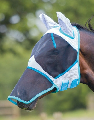 Full Face Fly Mask with Ears & Veil from Bridleway