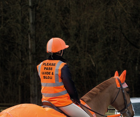 Bridleway Visibility Orange Adult Safety Vest