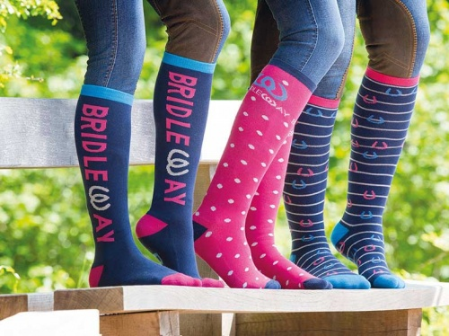 Ladies Knee Length Fun Socks 3 Pack from Bridleway