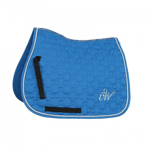Bridleway Signature Star Quilt Saddlecloth Blue