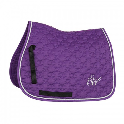 Bridleway Signature Star Quilt Saddlecloth Purple