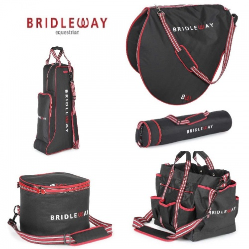 Black and Red Luggage Collection from Bridleway