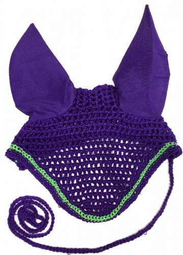Cameo Crochet Fly Bonnet Purple Lime