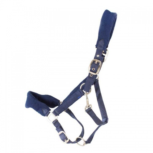 Fleece Padded Head Collar from Cameo Equestrian - Navy