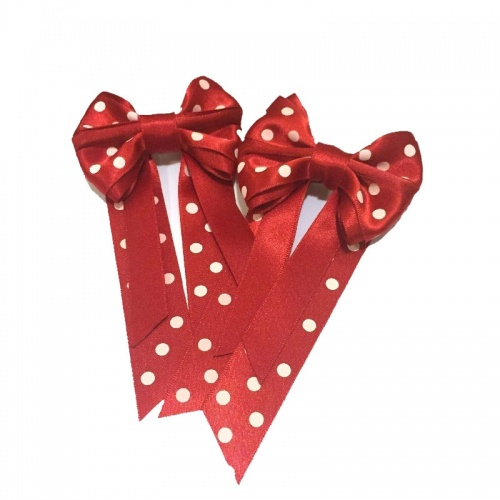 Mini Polka Dot Pig Bows from Ponies On Parade