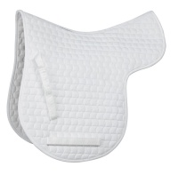 Shires High Wither Quilted Numnah White