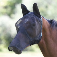 Fly Mask with Ears and Full Face Veil from Shires Equestrian