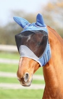 Deluxe Fly Mask Ears Royal Blue