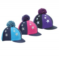 Pom Pom Hat Cover with Stars from Shires Equestrian