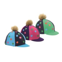 Pom Pom Hat Cover with Spots from Shires