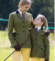 Equetech Adstock Deluxe Green Tweed Riding Jacket