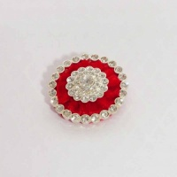 Red Velvet Buttonhole with Diamante from Ponies On Parade