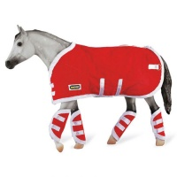 Breyer Traditional Horse Rug and Travel Boots Red