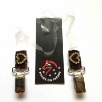 Number Clip with clear elastic from Ponies On Parade