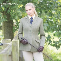 Foxbury Classic Ladies Olive Tweed Riding Jacket from Equetech