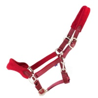 Fleece Padded Head Collar from Cameo Equestrian - Burgundy