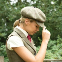 Launton Deluxe Tweed Baker Boy Cap from Equetech