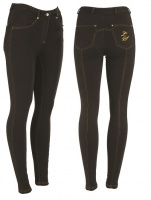 Legacy Junior Jodhpurs with Contrast Stitching - Black