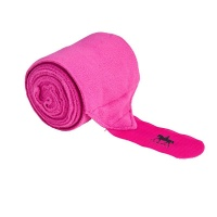 Premium Fleece Bandages from Legacy Equestrian - Hot Pink