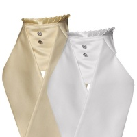Ready Tied Deluxe Rosetta Cream Satin Look Stock from Equetech